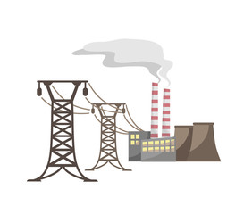 Power supply of the industrial city 2 (Vector)