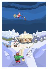 pejzaż ze Świętym Mikołajem