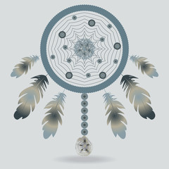 Illustration with dreamcatcher