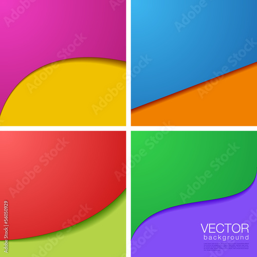 Abstract vector Background collection with copyspace