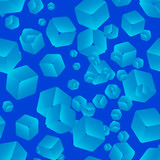 Seamless abstract background of cubes