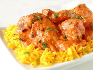 Chicken Tikka Massala on plate
