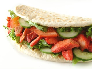 chicken tikka naan sandwich