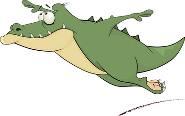Flying crocodile