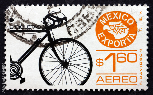 Postage stamp Mexico 1975 Bicycle