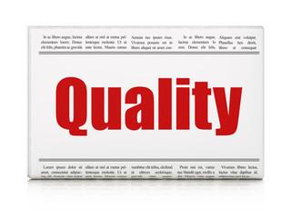 Marketing news concept: newspaper headline Quality