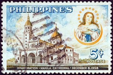 Immaculate Conception and Manila Cathedral (Philippines 1958)