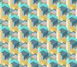 3D Towers Buildings City Abstract Vector Seamless Pattern.