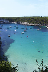 Cala in Menorca island