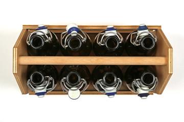 Bierkiste von oben