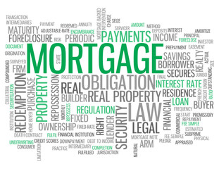 """MORTGAGE"" Tag Cloud (money credit interest rate bank debt)"