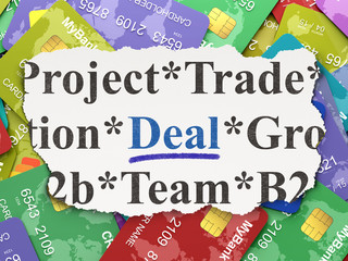 Business concept: Deal on Credit Card background
