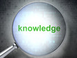 Education concept: Knowledge with optical glass