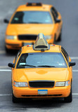 yellow cabs in city