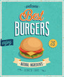Vintage Burgers Poster. Vector illustration. - 56055316