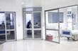 Corridor interior inside a modern hospital - 56057734