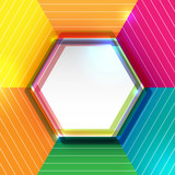 Abstract colorful background with hexagon