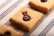 Hazelnut Biscuits With Mixed Berry Jam