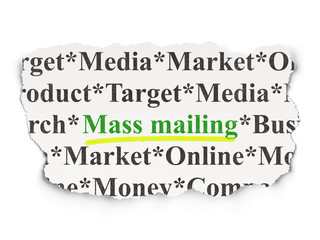 Advertising concept: Mass Mailing on Paper background