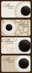 Set of nature coffee gift cards vector illustration
