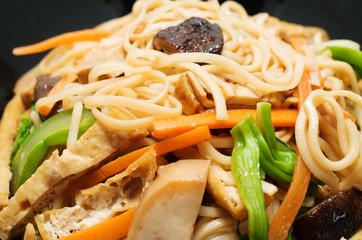 Vegetarian stir fry noodle