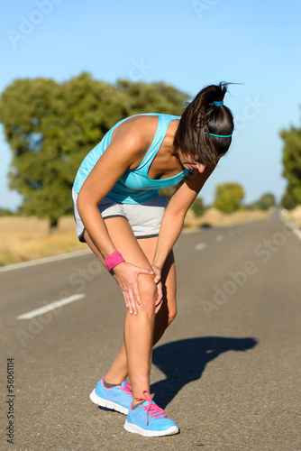 Running knee injury and pain