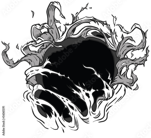 Hole Ripping Vector Background