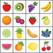 Fruit Tiles, Polka Dots, gingham check grid, apple, orange, lime