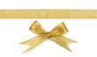 golden ribbon isolated on white - 56062153