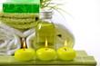 Wellness Grün Kerzen Seife Badetuch