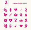 Cancer awareness elements icon set EPS10 file.