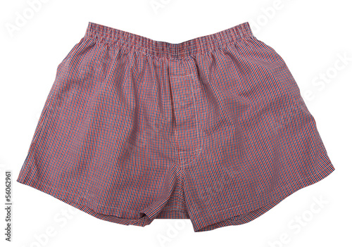 A pair of boxer shorts isolated on white background - 56062961