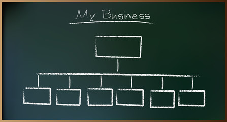 Business Plan on Schoolboard in Vector illustration