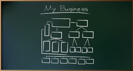 Business Plan on Schoolboard in Vector illustration