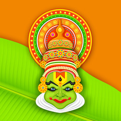 Colorful Kathakali Face