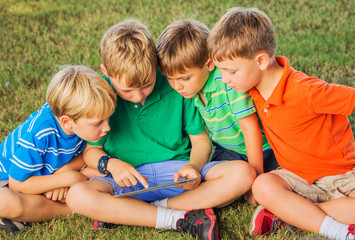 Kids with Tablet Computer