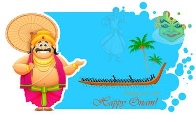 King Mahabali enjoying Boat Race of Kerla