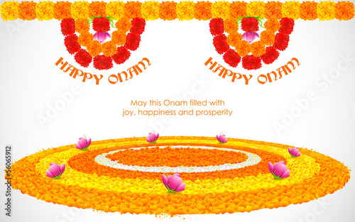 Flower Rangoli for Onam