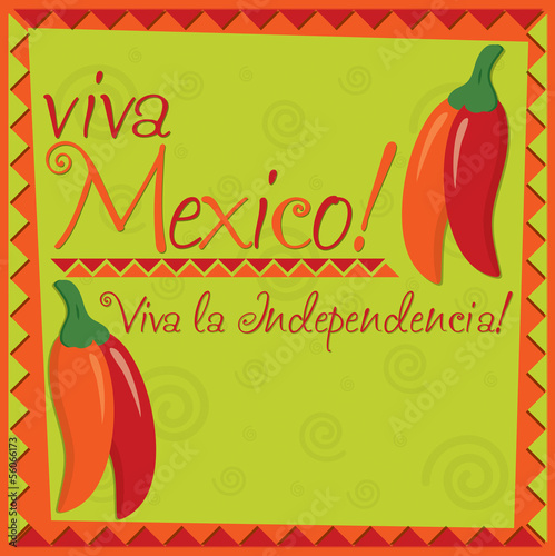 Mexican Independence Day card in vector format.