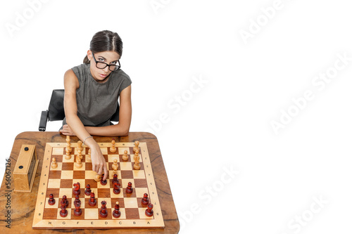 Attractive chess player attack