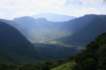 au centre de la Réunion