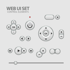 Light Web UI Elements Design Gray.