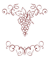 Frame -- Grape decoration