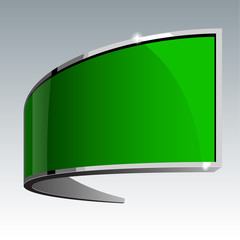 Shiny gloss green vector banner eps 10