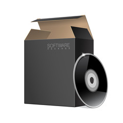 Two Package Box Opened with DVD Or CD Disk.