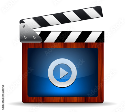 Vector illustrator of media player icon