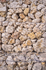 Gabion wall detail