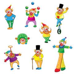 Set of joker cartoon