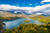 Fototapety Lake Bled in Julian Alps, Slovenia.