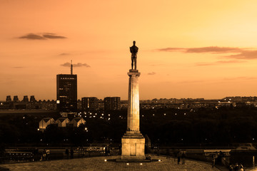 Statue of Victor, Belgrade, Serbia.